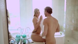 Sexy girl and her lad spend morning with pleasure