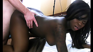 Delicious Ebony with natural forms is good for porn