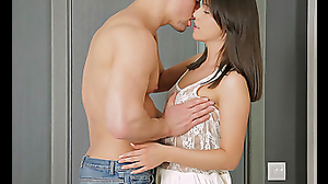 Teenage lovers having libidinous sex in bedroom