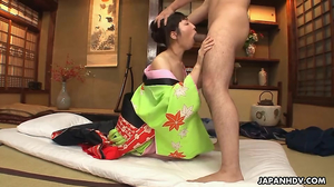 Asian babe fucks big cock even being afraid of them