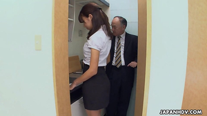 Young student from Asia satisfies male's wiener