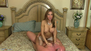 Voluptuous MILF gets creampied by secret lover