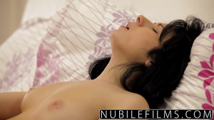 Adorable girlfriends start new day with sensual act