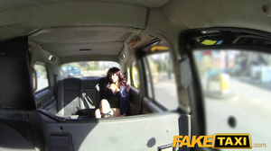 Ebony slut services taxi driver for his service