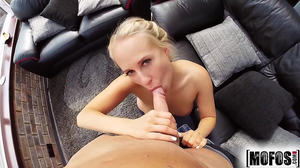 Lovely blonde cheats on husband with tricky neighbor