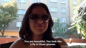 Hottie in shades keeps on fucking her negging boyfriend