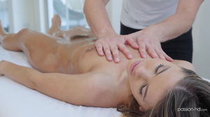 Perfect young hottie gets fucked by her masseur