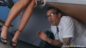 Busty boss Nicolette Shea gets fucked by repair guy