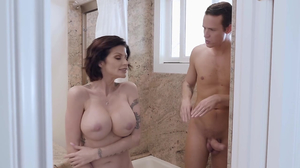 Horny stepmom enjoys fuckfest in the shower with her stepson