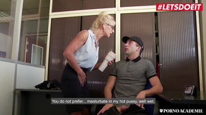 Marina Beaulieu enjoys double penetration from two thick cocks m