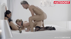 Kinky stepsister use their stepbrother as fuck toy