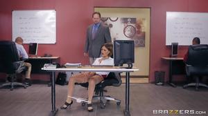 Krissy Lynn fucks her collegue in front of her boss