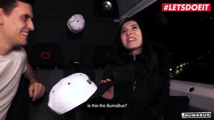 Sexy  Alina Lamour is fucked hard in a van