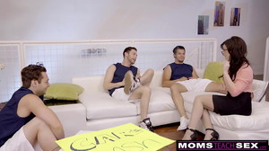 Jennifer White gets  three cock to fill her holes