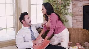 Big tits Ariella Ferraras fucks her son's teacher