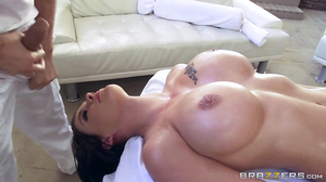 Oiled Peta Jenese with big tits gets analized by big dong