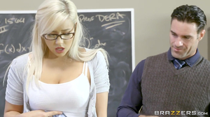 Kylie Page gets punished by her teacher's big dong