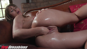 Busty asian model has hardcore solo sex with her toys