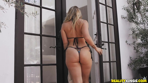 Breath play and hot banging with a blonde hoe