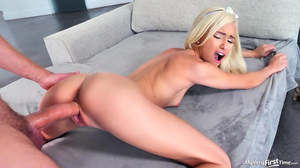 Bratty blonde babe swallows gallons of cum