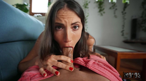 Brunettes perfect hole gets screwed in POV