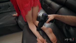 Sexy feet teasing leads to sexier fucking