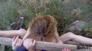 Frizzy haired gal agrees to get gaped HARD